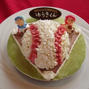手作り野球ボール型アイスケーキ