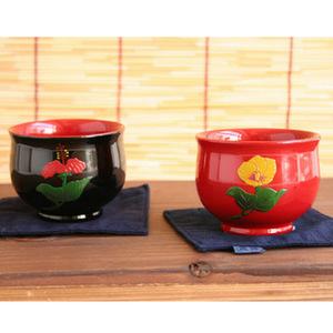 職人手作り 琉球漆器 湯のみ