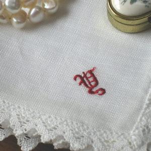 オリジナル麻ハンカチ