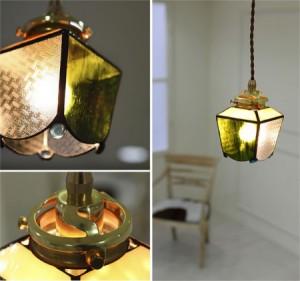 アンティークなオリジナルステンドグラス照明