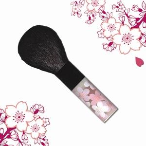 オリジナルかわいい桜柄熊野筆チークブラシ
